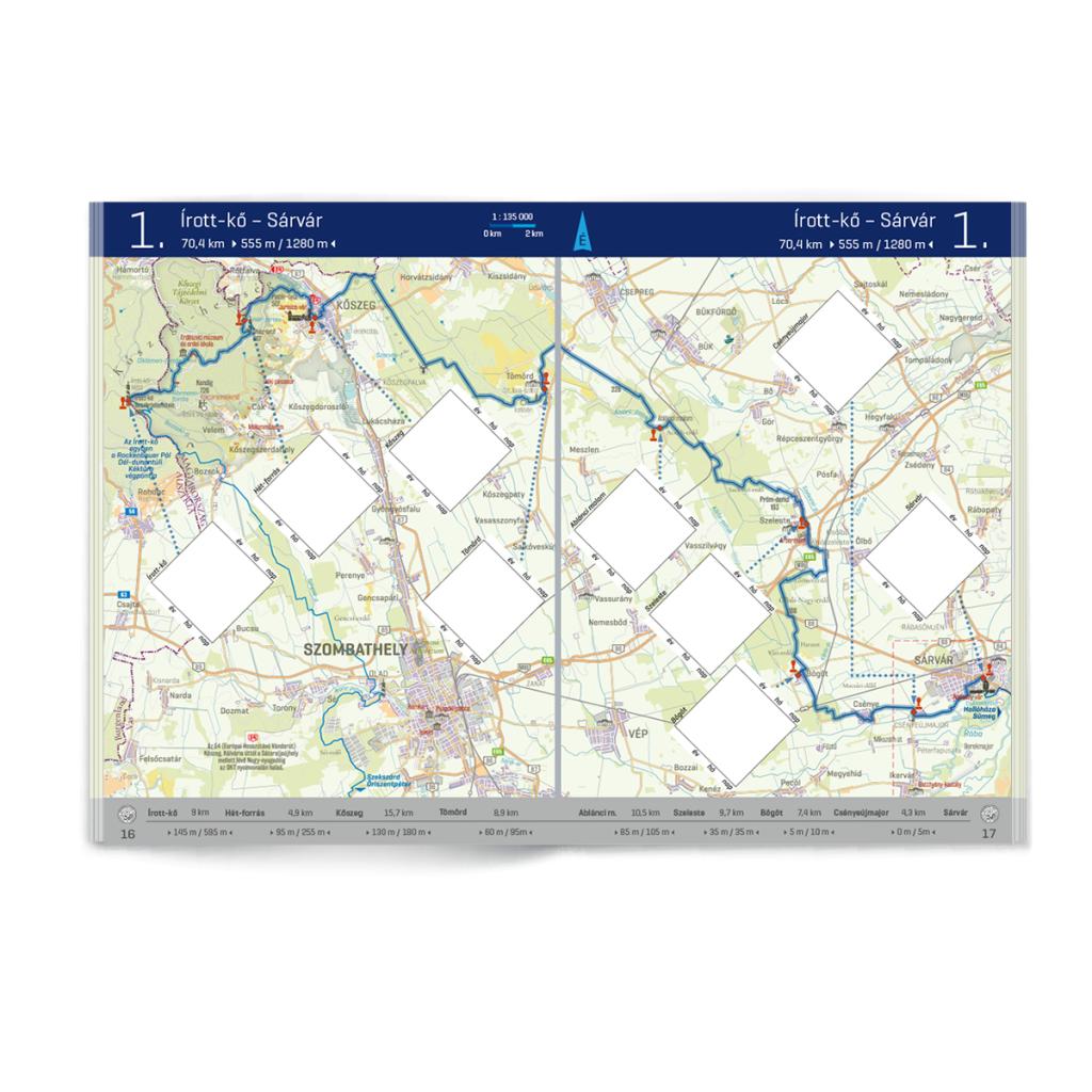 Színes térkép és útvonalvázlat az új igazolófüzetben