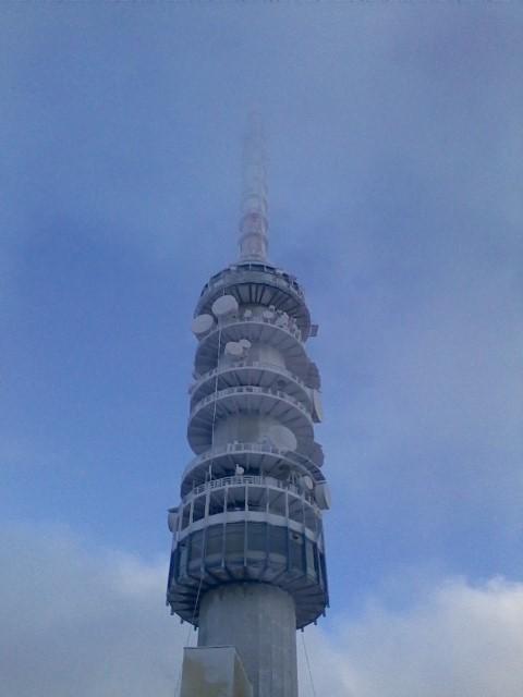 Kékestető TV torony télen