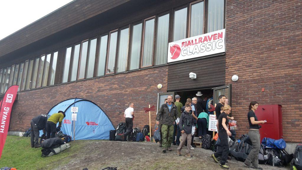 Fjällräven Classic regisztráció Kirunában a helyi iskolában