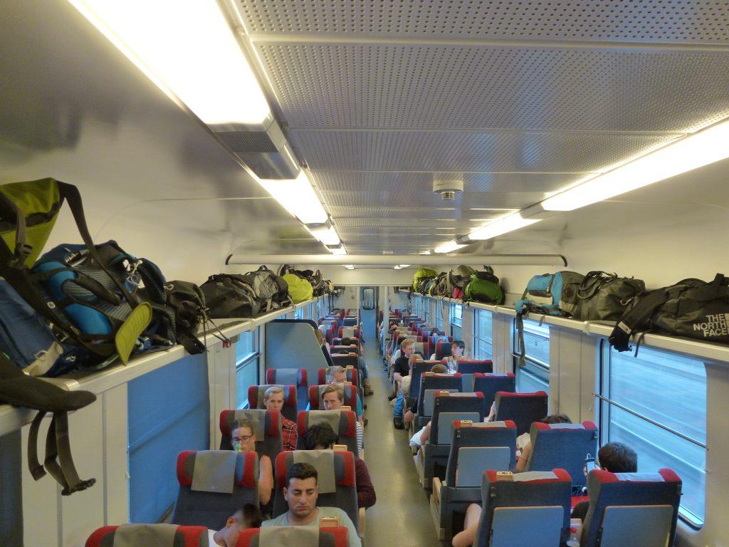 Elég sok túrázó volt a vonaton
